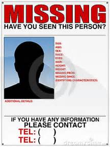 Missing Person Poster Template 10 missing person poster templates excel pdf formats