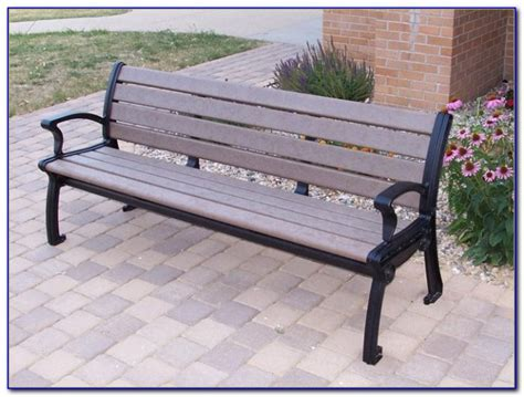 park bench kits recycled plastic park benches bench home design ideas