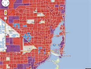 Miami Crime Map by Class Divided Cities Miami Edition Huffpost