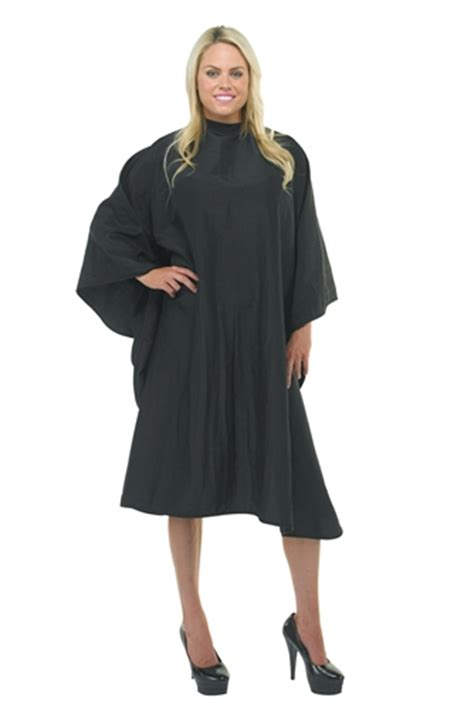 zippered hair cutting smock in can black hair cutting salon cape black salon cape big black