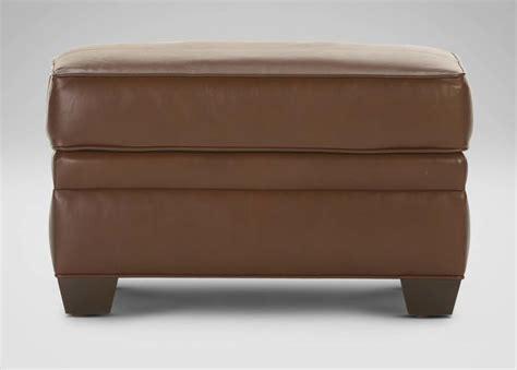 ethan allen ottomans bennett leather ottoman ethan allen
