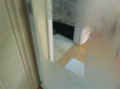 easiest   clean glass shower doors soak paper towels