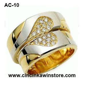Cincin Kawin Tunangan Perak Kode Ac 114 cincin kawin exclusive