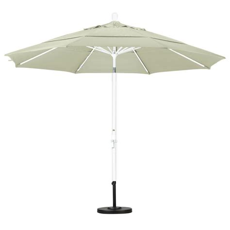 Canvas Patio Umbrella California Umbrella 11 Ft Aluminum Collar Tilt Vented Patio Umbrella In Canvas Pacifica