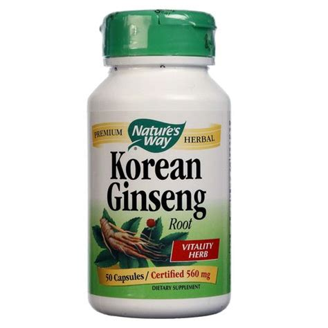 Korean Ginseng Nature S Health nature s way korean ginseng 560 mg 50 capsules evitamins