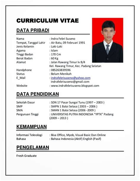 search results for contoh curriculum vitae yang baik calendar 2015