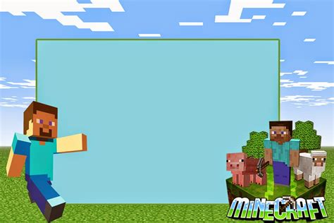 minecraft birthday invitation card template minecraft birthday invitation card templates pdf