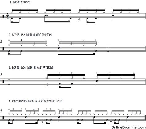 drum rhythm tutorial drum lessons epic drum beat advanced polyrhythm