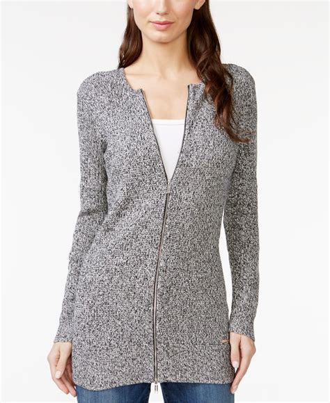 Loong Sweater calvin klein zippered cardigan sweater in black lyst