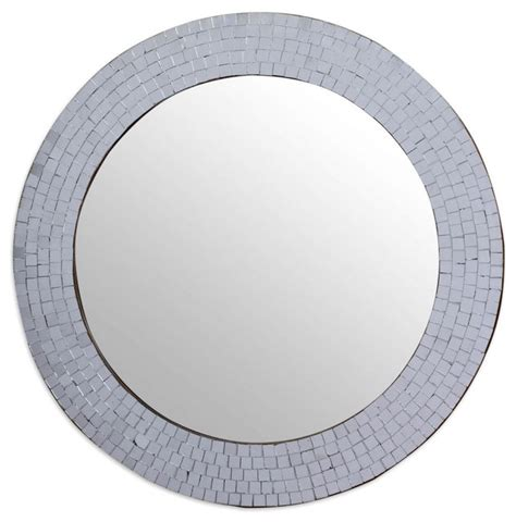 circular bathroom mirror modern circular bathroom wall mirror with mosaic
