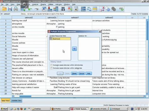 spss tutorial for data analysis anova tutorial pt 12 spss qualitative analysis