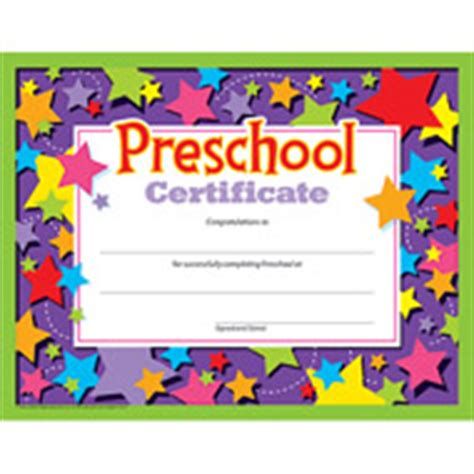 trend enterprises templates diplomas certificates awards for preschool kindergarten