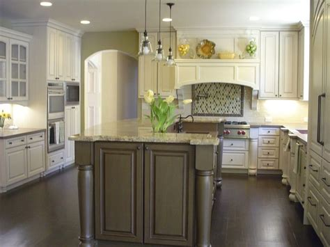 white kitchen cabinets and islands white white ceramic backsplash tile sleek gray tiled