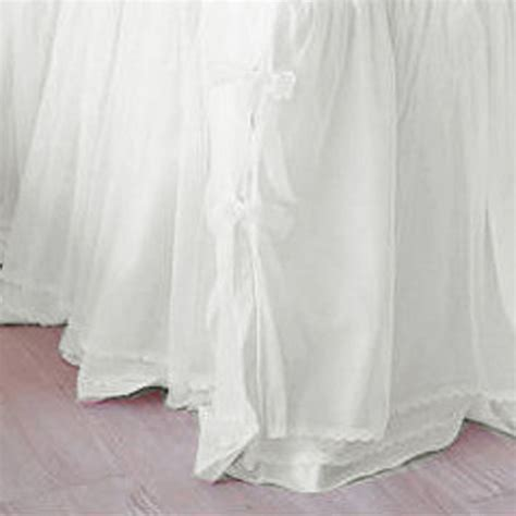 white bed skirts white bedskirt
