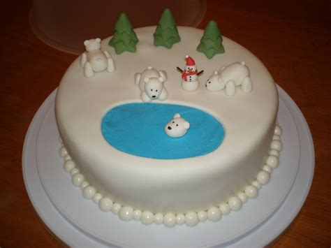 Xmas Decorating Ideas Home Polar Bear Cake Cakecentral Com