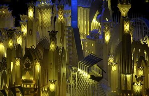 Origami City - origamisan articles amazing city of paper castle on