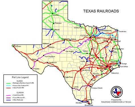 railroad map of texas ranching and the raillroad