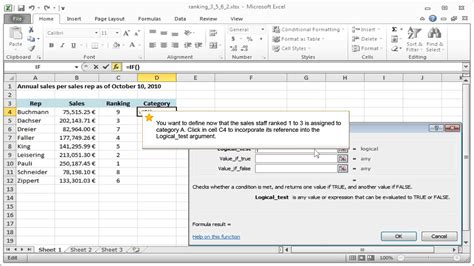 excel tutorial 2010 if function nested logical function excel 2013 logical functions in