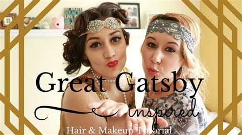 hair style form the great gatsby era great gatsby inspired makeup hair tutorial long hair