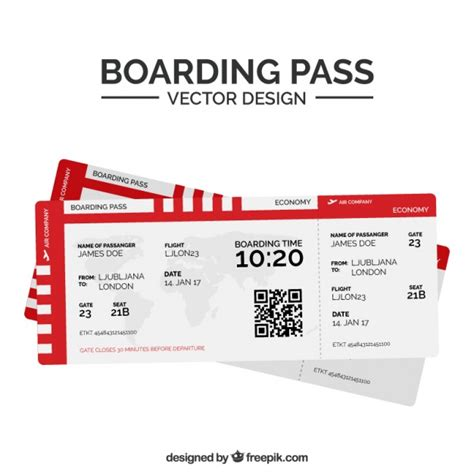 template undangan boarding pass fantastic boarding pass with red shapes vector premium