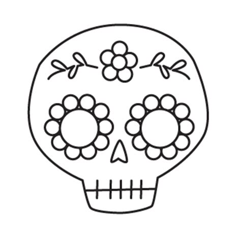 day of the dead skull template studio longoria tutorial sequined sugar skull hairclip pin