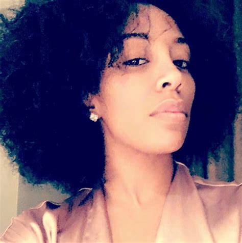 K Michelle Natural Hairstyle | here is a picture of k michelle s natural hair black