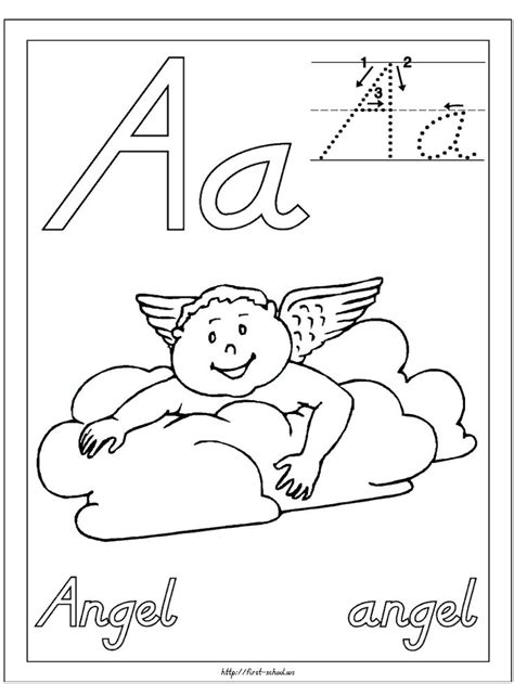 catholic abc coloring pages a is for angel free preschoolpreschool lettersalphabet