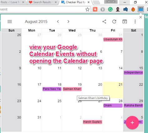 checker plus for calendar chrome extension for