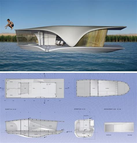 floating green home sets sail w solar panel power system