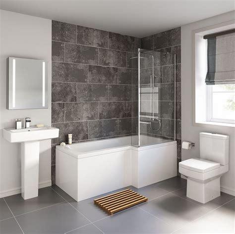 Modern Bathroom Suite by Cheeky Bathrooms Modern Bliss L Shaped Shower Bathroom Suite
