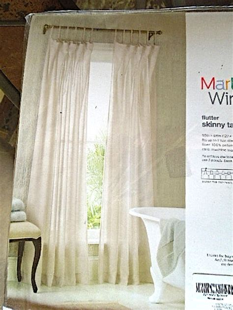 light weight curtains pair martha window skinny tab softcrinkle light weight