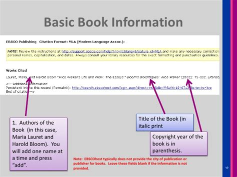 Name Of Book In Essay by How To Cite A Book Chapter Essay From Ebscohost Literary Reference Ce