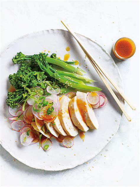 miso poached chicken salad donna hay