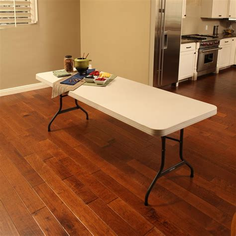 8 foot folding table home lifetime almond 8 ft folding table 22984 the home depot