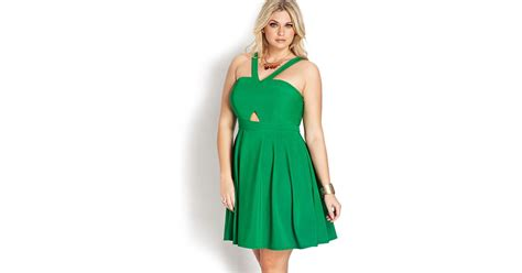 Forever 21 Halter Dress A La Alaina From American Idol by Lyst Forever 21 Whimsical Pleated Halter Dress In Green