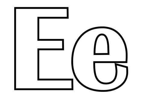 free coloring pages of e is for