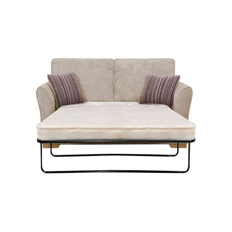 2 sofa bed jasmine 2 seater sofa bed with standard mattress silver