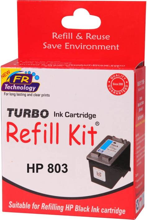Hp Ink Cartridge 803 Color turbo ink refill kit for hp 803 cartridge single color ink turbo ink refill kit flipkart