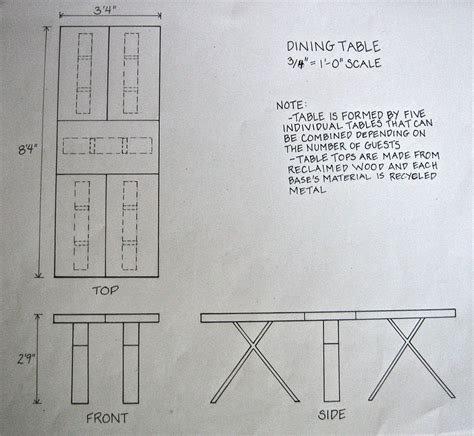 diy section pdf diy dining table plan elevation section download