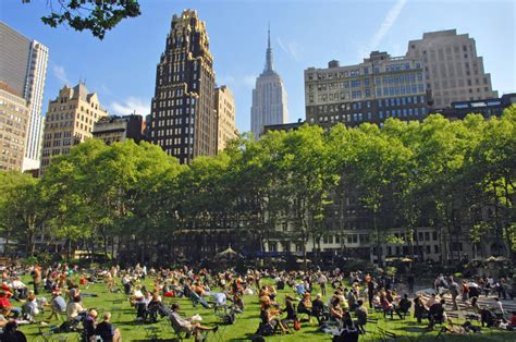 in new york enjoy the oasis of bryant park in new york city