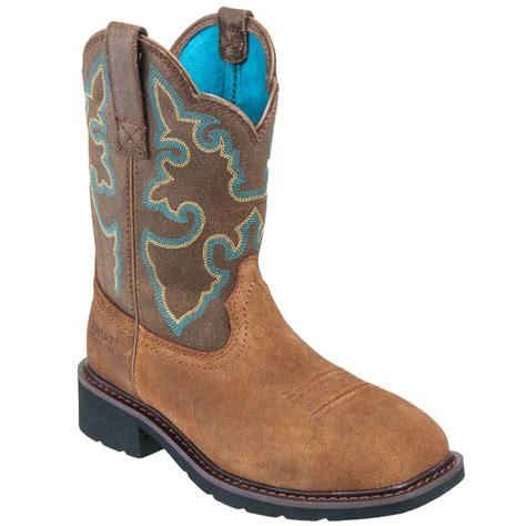 ariat boots s steel toe 10015406 eh brown krista