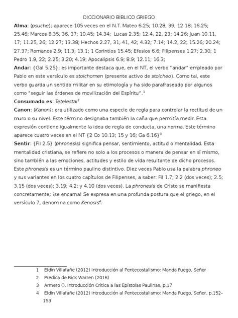 Diccionario Biblico Del Griego
