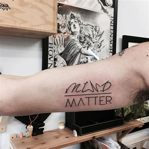 mind over matter tattoo the 25 best mind matter ideas on