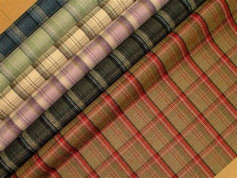 wool tartan upholstery fabric severe contract quality wool effect tartan upholstery