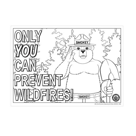 coloring pages smokey the bear smokey bear color me poster s18312isb