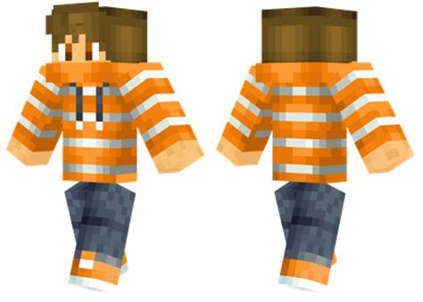 Hoodie Sweater Minecraft Market Redmerch orange stripes minecraft skins