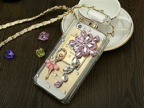 Chanel Parfum Swarovski For Iphone 6 buy wholesale ballet swarovski chanel perfume bottle floral rhinestone cases for iphone 6 plus
