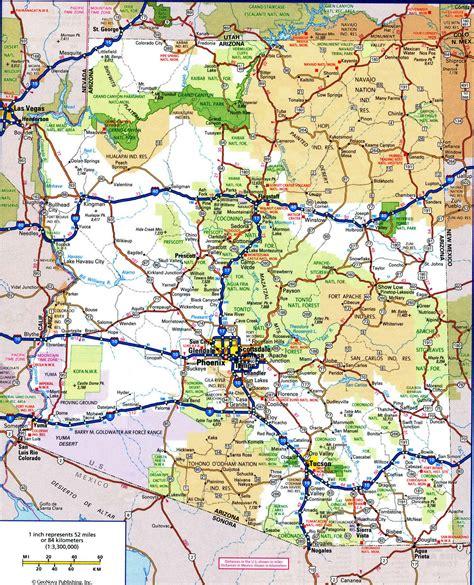 map us with highways road map of arizonafree maps of us travel 8 us arizona