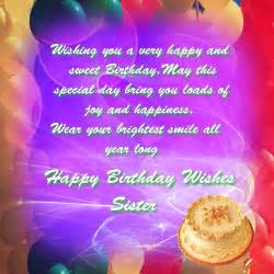 Happy birthday sister free wishes ecards greeting cards 123