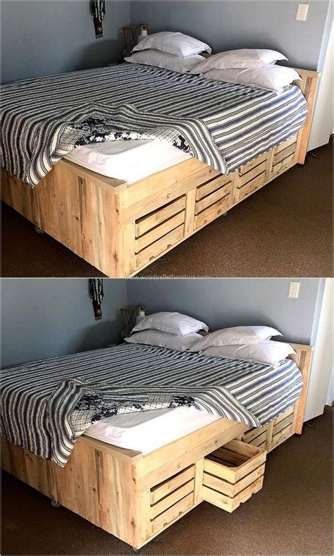 diy pallet bed with drawers best 25 wooden pallet beds ideas on pallet platform bed pallett bed frame and